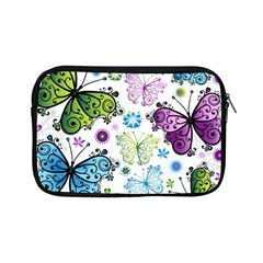 Butterfly Animals Fly Purple Green Blue Polkadot Flower Floral Star Apple iPad Mini Zipper Cases