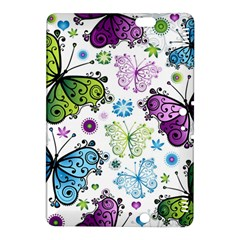 Butterfly Animals Fly Purple Green Blue Polkadot Flower Floral Star Kindle Fire HDX 8.9  Hardshell Case