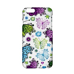 Butterfly Animals Fly Purple Green Blue Polkadot Flower Floral Star Apple iPhone 6/6S Hardshell Case