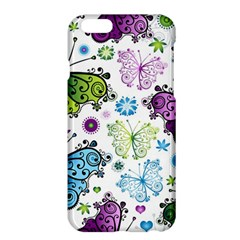 Butterfly Animals Fly Purple Green Blue Polkadot Flower Floral Star Apple iPhone 6 Plus/6S Plus Hardshell Case