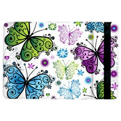 Butterfly Animals Fly Purple Green Blue Polkadot Flower Floral Star iPad Air 2 Flip