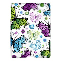 Butterfly Animals Fly Purple Green Blue Polkadot Flower Floral Star Samsung Galaxy Tab S (10.5 ) Hardshell Case