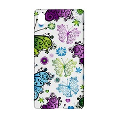 Butterfly Animals Fly Purple Green Blue Polkadot Flower Floral Star Sony Xperia Z3+