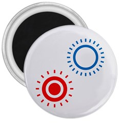 Color Light Effect Control Mode Circle Red Blue 3  Magnets