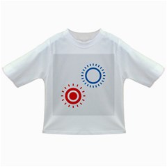 Color Light Effect Control Mode Circle Red Blue Infant/Toddler T-Shirts