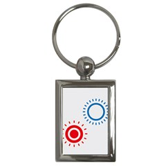 Color Light Effect Control Mode Circle Red Blue Key Chains (Rectangle)