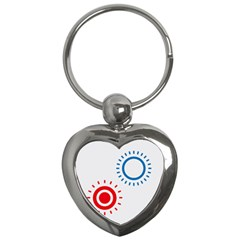 Color Light Effect Control Mode Circle Red Blue Key Chains (Heart)