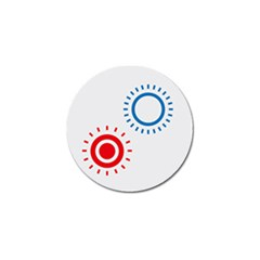 Color Light Effect Control Mode Circle Red Blue Golf Ball Marker