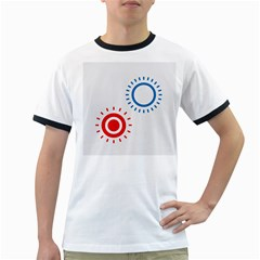 Color Light Effect Control Mode Circle Red Blue Ringer T-Shirts