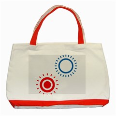 Color Light Effect Control Mode Circle Red Blue Classic Tote Bag (Red)