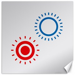 Color Light Effect Control Mode Circle Red Blue Canvas 12  x 12