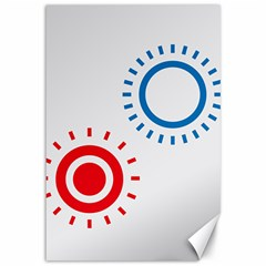 Color Light Effect Control Mode Circle Red Blue Canvas 12  x 18