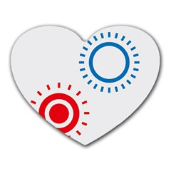 Color Light Effect Control Mode Circle Red Blue Heart Mousepads