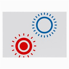 Color Light Effect Control Mode Circle Red Blue Large Glasses Cloth (2 Side)
