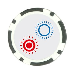 Color Light Effect Control Mode Circle Red Blue Poker Chip Card Guard
