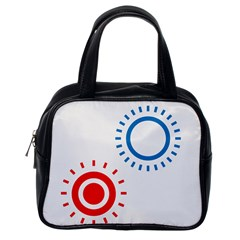Color Light Effect Control Mode Circle Red Blue Classic Handbags (One Side)