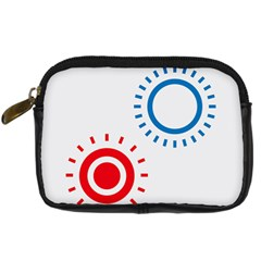 Color Light Effect Control Mode Circle Red Blue Digital Camera Cases
