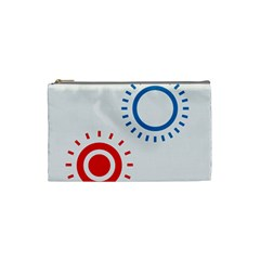 Color Light Effect Control Mode Circle Red Blue Cosmetic Bag (Small)