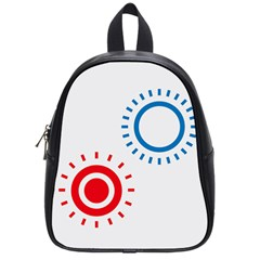 Color Light Effect Control Mode Circle Red Blue School Bags (Small)