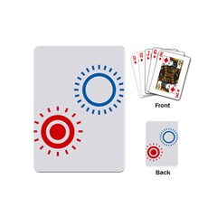 Color Light Effect Control Mode Circle Red Blue Playing Cards (Mini)