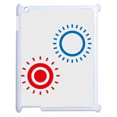 Color Light Effect Control Mode Circle Red Blue Apple Ipad 2 Case (white)