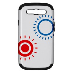 Color Light Effect Control Mode Circle Red Blue Samsung Galaxy S Iii Hardshell Case (pc+silicone)