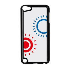Color Light Effect Control Mode Circle Red Blue Apple iPod Touch 5 Case (Black)