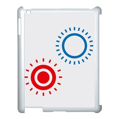 Color Light Effect Control Mode Circle Red Blue Apple iPad 3/4 Case (White)