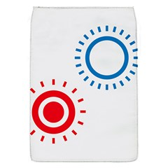 Color Light Effect Control Mode Circle Red Blue Flap Covers (S)