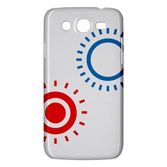 Color Light Effect Control Mode Circle Red Blue Samsung Galaxy Mega 5.8 I9152 Hardshell Case