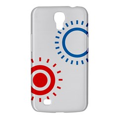 Color Light Effect Control Mode Circle Red Blue Samsung Galaxy Mega 6.3  I9200 Hardshell Case