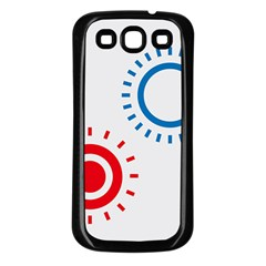 Color Light Effect Control Mode Circle Red Blue Samsung Galaxy S3 Back Case (black)