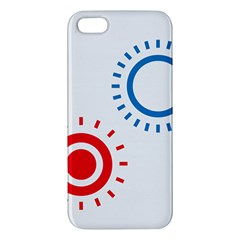 Color Light Effect Control Mode Circle Red Blue iPhone 5S/ SE Premium Hardshell Case