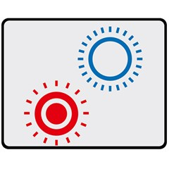 Color Light Effect Control Mode Circle Red Blue Double Sided Fleece Blanket (Medium)