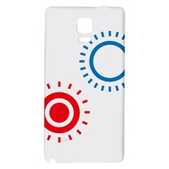Color Light Effect Control Mode Circle Red Blue Galaxy Note 4 Back Case