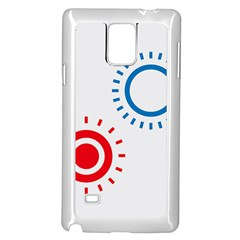 Color Light Effect Control Mode Circle Red Blue Samsung Galaxy Note 4 Case (White)