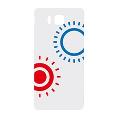 Color Light Effect Control Mode Circle Red Blue Samsung Galaxy Alpha Hardshell Back Case
