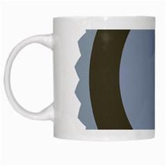 Circle Round Grey Blue White Mugs