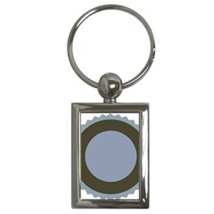 Circle Round Grey Blue Key Chains (Rectangle)
