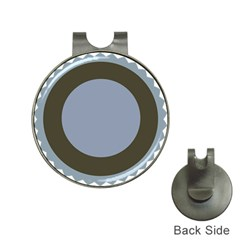 Circle Round Grey Blue Hat Clips with Golf Markers