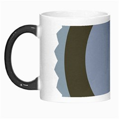 Circle Round Grey Blue Morph Mugs
