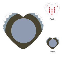 Circle Round Grey Blue Playing Cards (Heart)