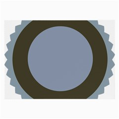 Circle Round Grey Blue Large Glasses Cloth (2-Side)