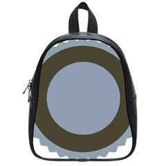 Circle Round Grey Blue School Bags (Small)