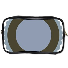 Circle Round Grey Blue Toiletries Bags 2-Side