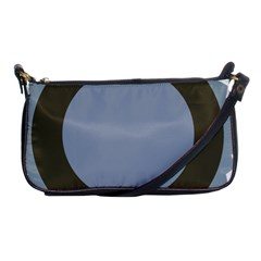 Circle Round Grey Blue Shoulder Clutch Bags