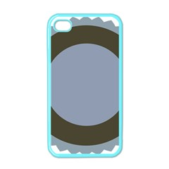 Circle Round Grey Blue Apple iPhone 4 Case (Color)