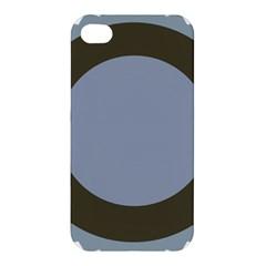 Circle Round Grey Blue Apple iPhone 4/4S Hardshell Case