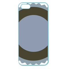 Circle Round Grey Blue Apple Seamless iPhone 5 Case (Color)