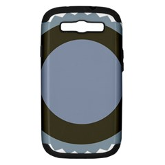 Circle Round Grey Blue Samsung Galaxy S III Hardshell Case (PC+Silicone)